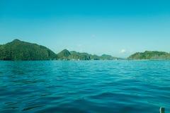 Horizontal tropical d'île Images libres de droits