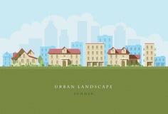 Horizontal urbain Images libres de droits