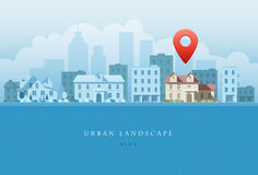 Horizontal urbain Images stock