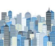 Horizontal urbain avec des gratte-ciel Illustration de vecteur illustration de vecteur