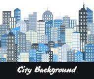 Horizontal urbain avec des gratte-ciel Illustration de vecteur illustration libre de droits