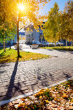 Horizontal urbain d'automne Photographie stock