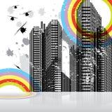 Horizontal urbain de scène Images libres de droits