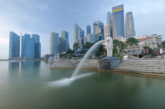 Horizontal urbain de Singapour Photos stock