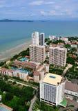 Horizontal urbain de ville de Pattaya, Thaïlande images libres de droits