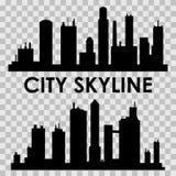 Horizontal urbain moderne Illustration de vecteur Le silhouette illustration de vecteur