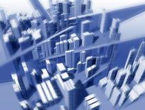 Horizontal urbanistique de la taille du vol de l'oiseau Images libres de droits