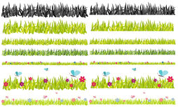 Horizontal vector grass Stock Photo