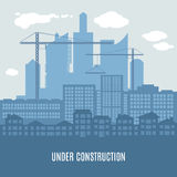 Horizontal vector illustration of city under Royalty Free Stock Images