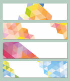 Horizontal vector mosaic background. 4 horizontal vector mosaic background Royalty Free Stock Images