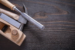 Horizontal version of claw hammer shaving plane Royalty Free Stock Images