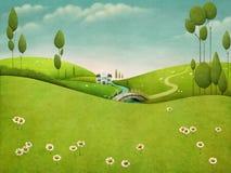 Horizontal vert illustration stock
