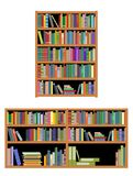 Horizontal and vertical bookshelf Royalty Free Stock Photos