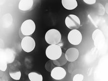 Horizontal vibrant black and white huge bokeh abstraction backgr Royalty Free Stock Images