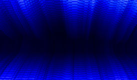 Horizontal vibrant blue business presentation Royalty Free Stock Image