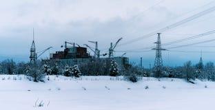 Horizontal vibrant Pripyat atomic reactor Stock Image