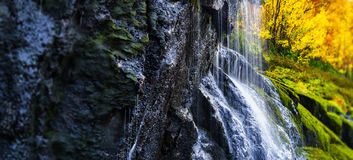 Horizontal vibrant waterfall Stock Images