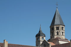 Horizontal view of Bell Tower of Cluny Abbey Royalty Free Stock Image