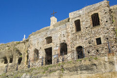 Horizontal view of the church of piedigrotta with blue sky Stock Images