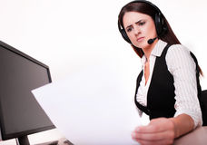 Horizontal view of difficult task at work Royalty Free Stock Images