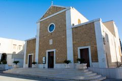 Horizontal View Of the Facade of the Church SS. Maria Immacolata. Leporano, South of Italy stock image