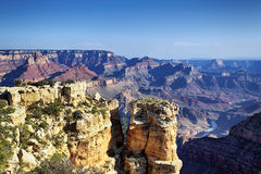 Horizontal view of famous Grand Canyon Royalty Free Stock Photo