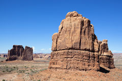 Horizontal view of famous Red Rock Stock Image
