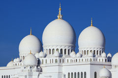 Horizontal view of famous Sheikh Zayed Grand Mosque Royalty Free Stock Photo