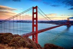 Horizontal view of Golden Gate Bridge Stock Photos