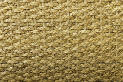 Horizontal view of hand made original brown colored wicker weave texture Royalty Free Stock Photos