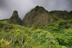 Horizontal view of the Iao Needle Royalty Free Stock Images