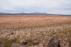 Horizontal view of the Jornada de los Muertos in NM royalty free stock photos