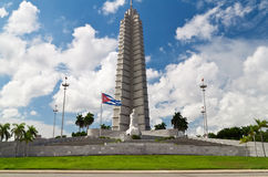Horizontal view of the Jose Marti memorial in Hava royalty free stock photo