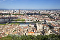 Horizontal view of Lyon Stock Photography