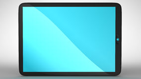 Horizontal view of modern Tablet PC Stock Photo