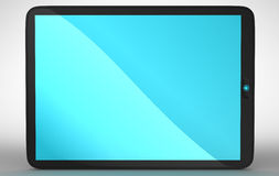 Horizontal view of modern Tablet PC Stock Image