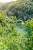 Horizontal View Overlooking Plitvice Lakes National Park Royalty Free Stock Photo