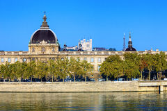 Horizontal view of Rhone river Stock Images