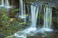 Horizontal view of rivulets at Wadsworth Falls, Middlefield, Con Royalty Free Stock Photos