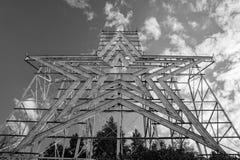 A Horizontal View of the Roanoke Star, Roanoke, Virginia, USA stock photo