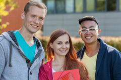 Horizontal view of smiling youth Stock Photography
