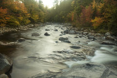 Horizontal view of Swift River at Rocky Gorge, New Hampshire. Stock Photography