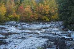 Horizontal view of Swift River at Rocky Gorge, New Hampshire. Stock Photo