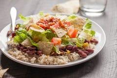 Horizontal view of Taco Salad Stock Image