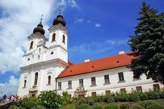 Horizontal view of Tihany abbey Stock Photos