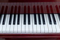Horizontal View of White and Black Piano Keys Stock Photo