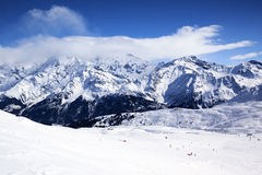 Horizontal view of winter mountain Stock Photography