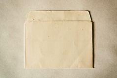 Horizontal vintage brown empty floppy case Stock Photo