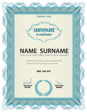 Horizontal vintage certificate template,diploma,Letter size ,lay Stock Image
