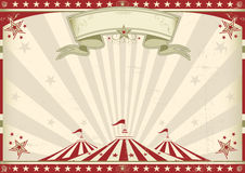 Horizontal vintage circus. A circus vintage poster for your advertising. Perfect size for a screen